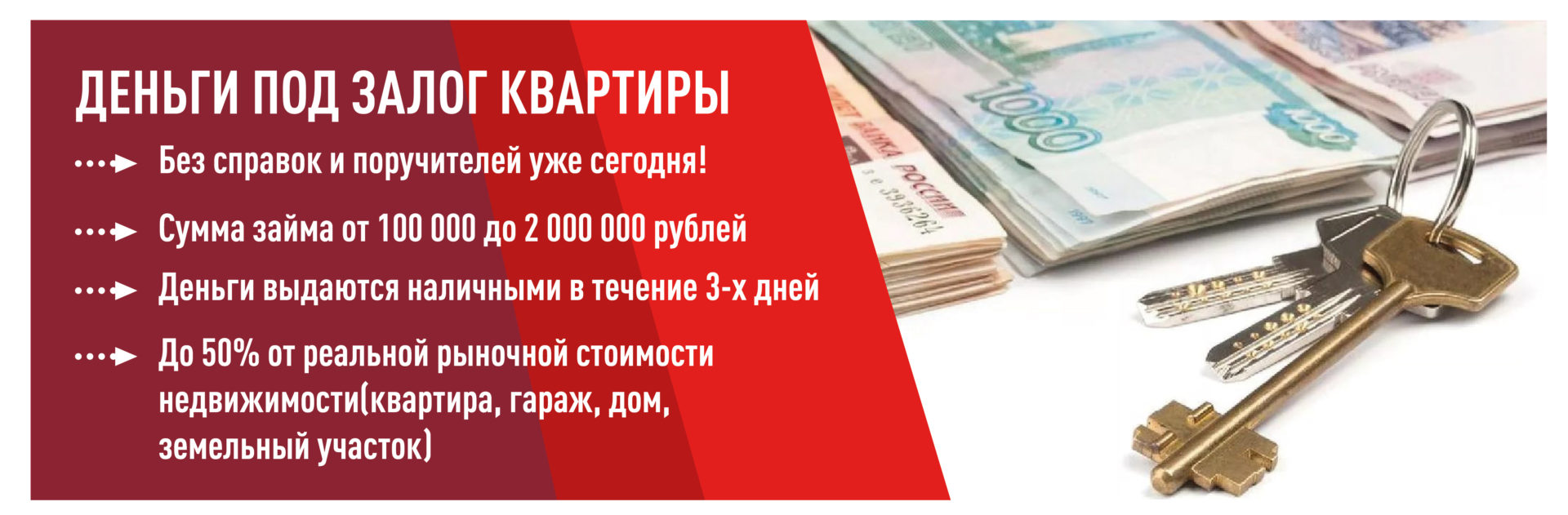 банки выдающие кредит под залог квартиры